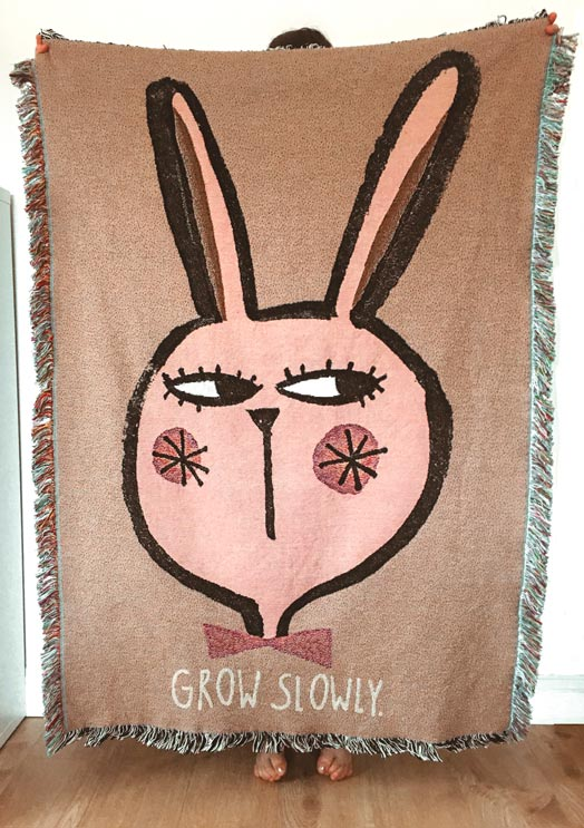 Walltapestry Rabbit/grow slowly - studioloco