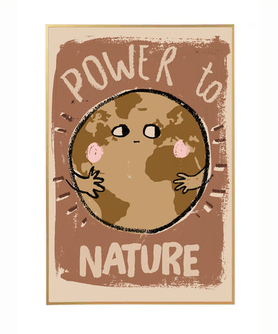 Wallposter Power to Nature 50X70Cm