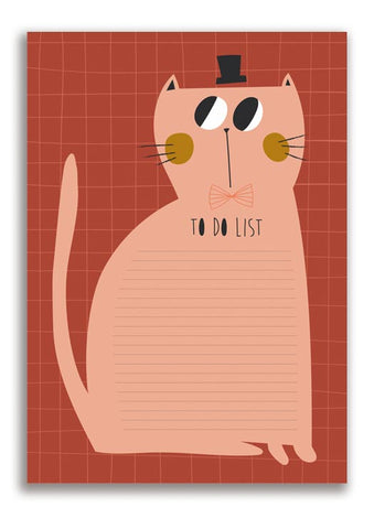 Cat to do list/notepad 50sheets - studioloco