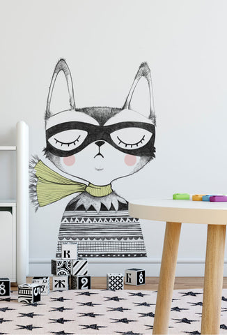 Captain Cat Wall Sticker - studioloco