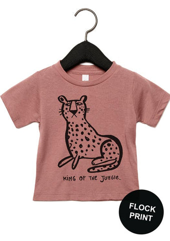 T-shirt Old rose Leopard - studioloco