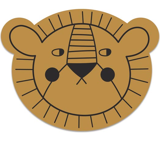 Mr Lion placemat-Mustard - studioloco
