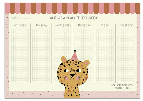COOL CAT A4WEEKPLANNER 50SHEETS - studioloco