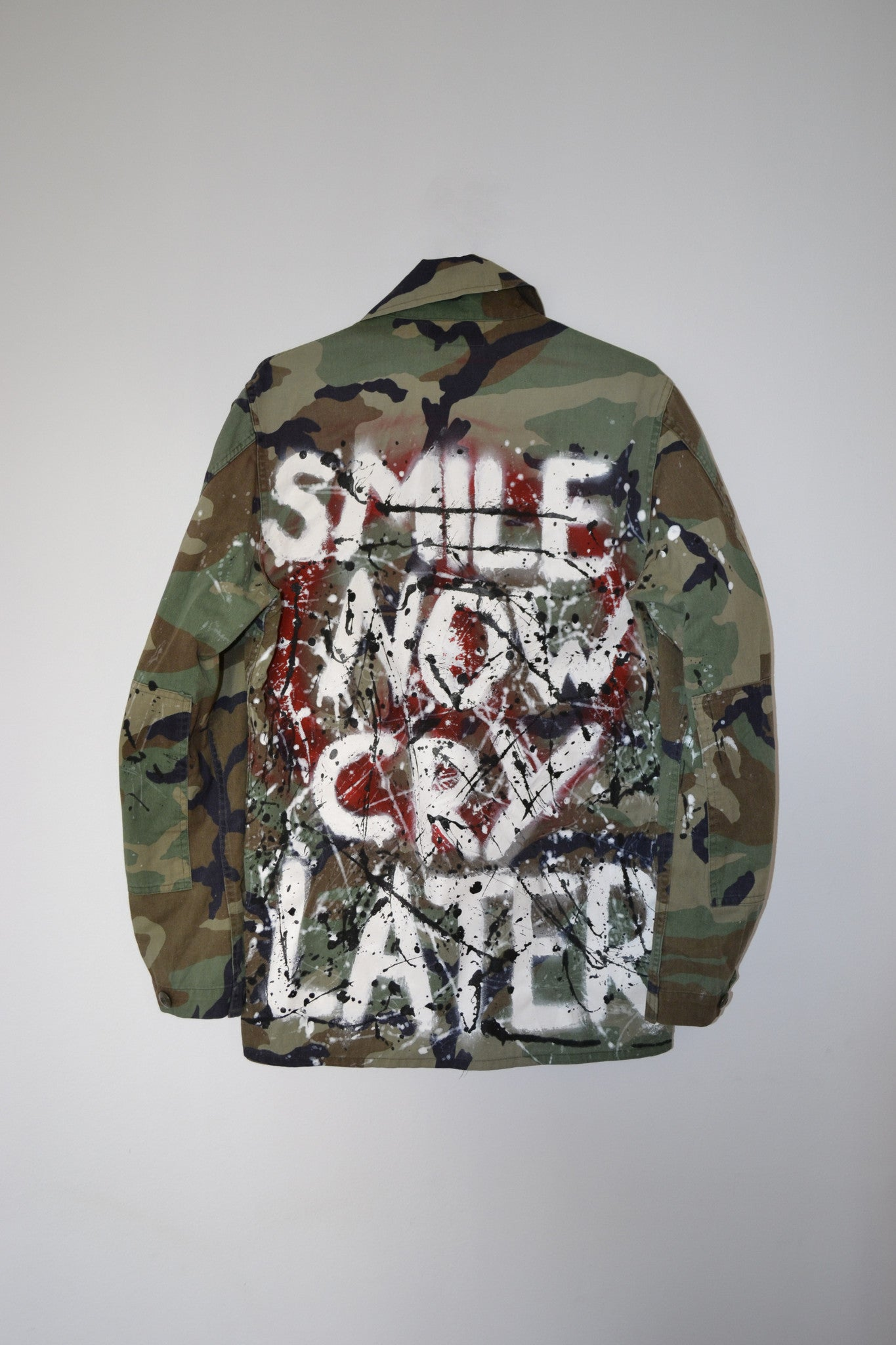 Military Shirt, Official US ARMY 1990s | SMILE NOW, CRY LATER - 2PAC