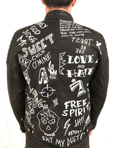 BLACK LUX LEATHER JACKET DON´T LOOK BACK - EXKLUS1V