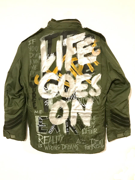 Military jacket - Life Goes On - EXKLUS1V