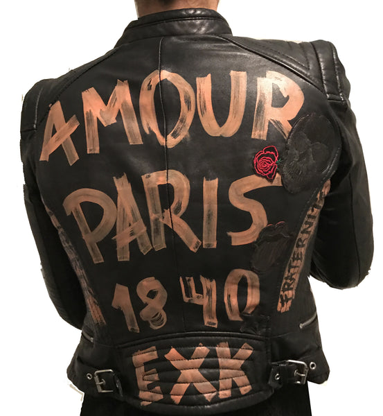 BLACK LUX LEATHER JACKET | AMOUR PARIS 1840  | Limited edition 1 of 1 - EXKLUS1V