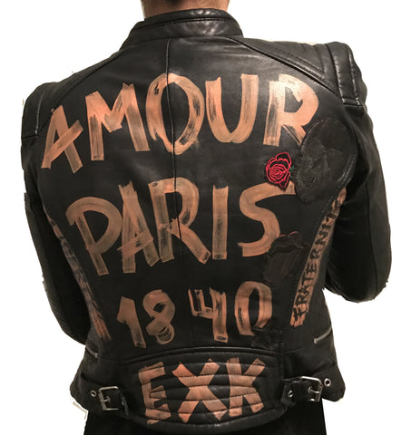 BLACK LUX LEATHER JACKET | AMOUR PARIS 1840  | Limited edition 1 of 1