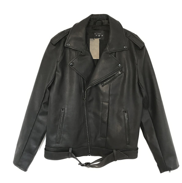 BLACK LEATHER LUX JACKET LONDON - EXKLUS1V