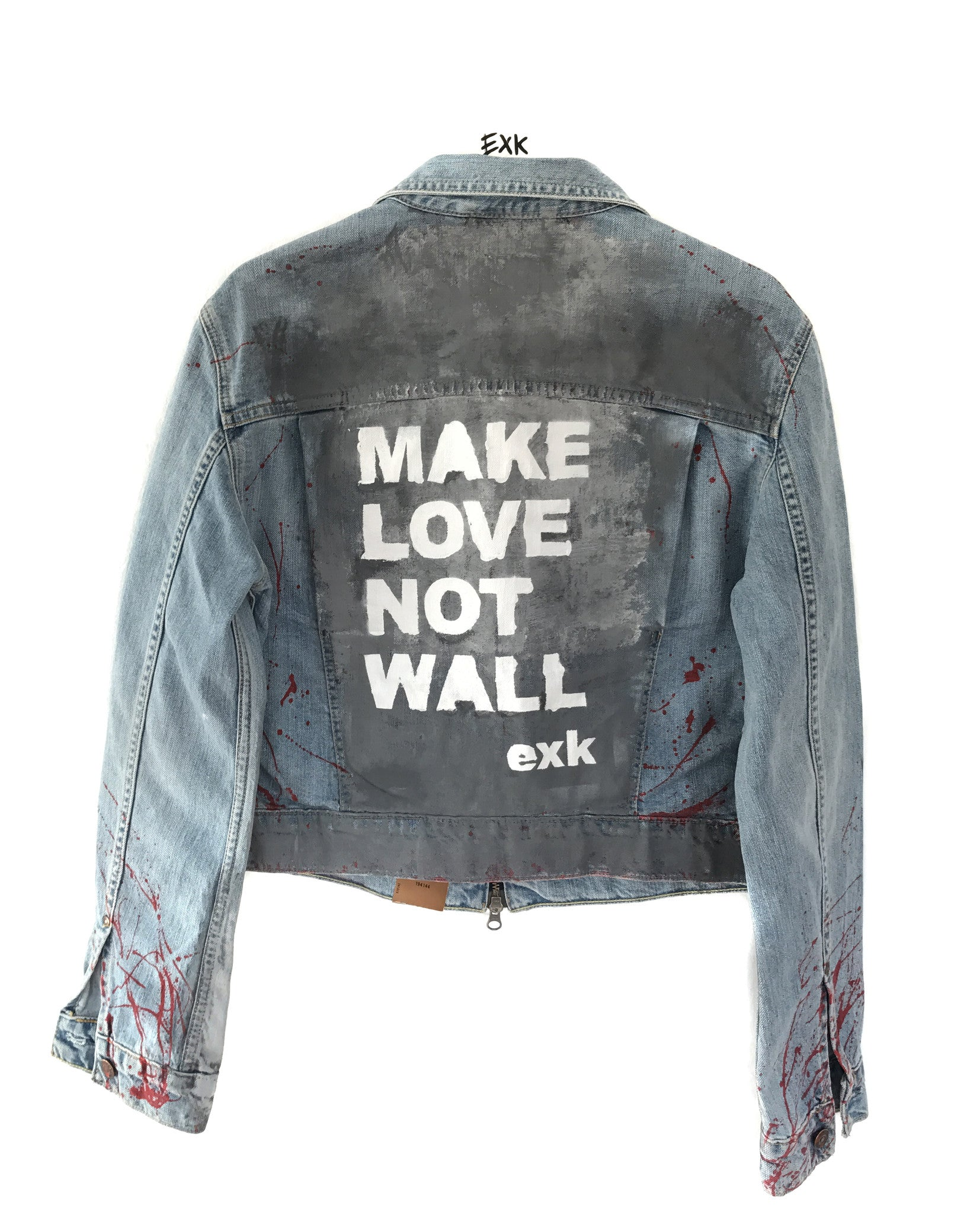 EXK1 LEVIS JACKET - Make Love Not Wall