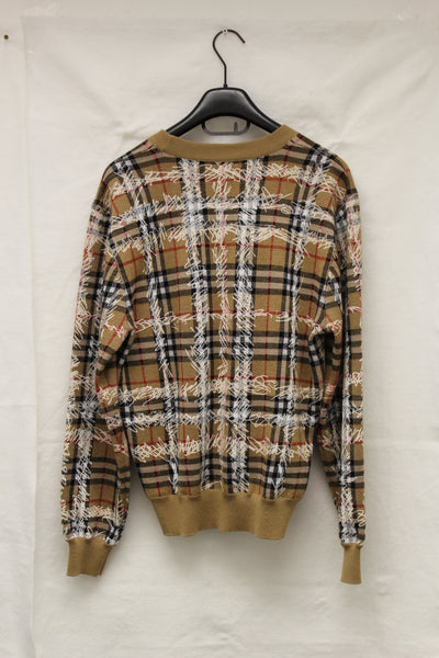 Scribble-Checked Wool Jumper