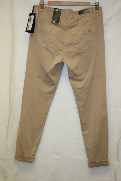 Beige Cotton Stretch Trousers