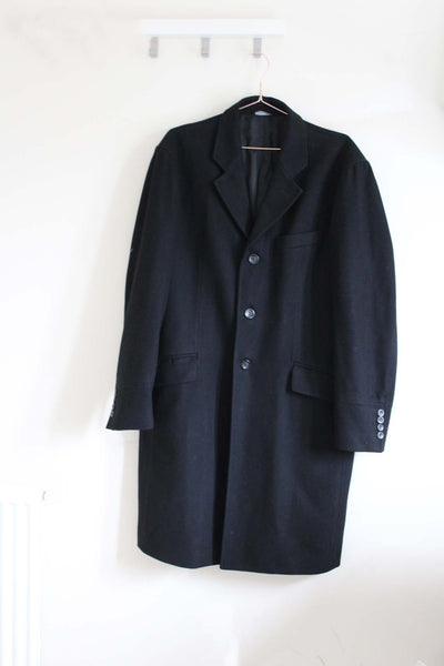 Luxury Black Woolen Coat