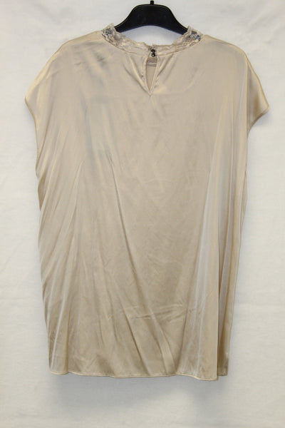 Gold Sleeveless Soft Silk Blouse