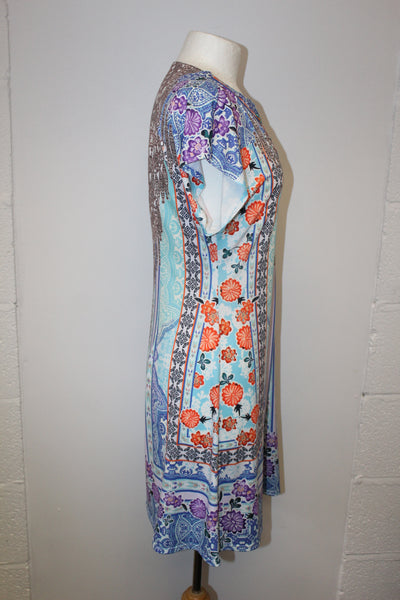 Turquoise Beaded Jersey Dress