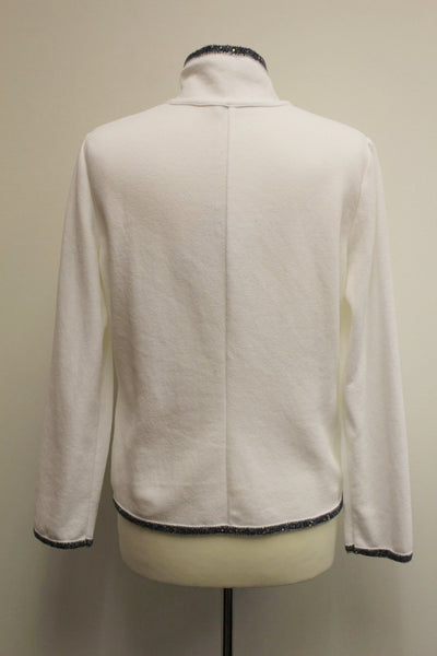 White Trevi Cotton Jacket
