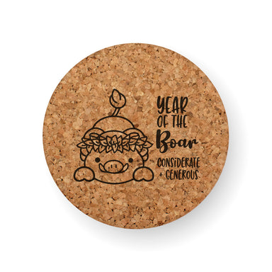 CHINESE ZODIAC YEAR OF THE BOAR COASTER