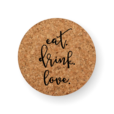 DISCONTINUED DESIGN : EAT. DRINK. LOVE. COASTER