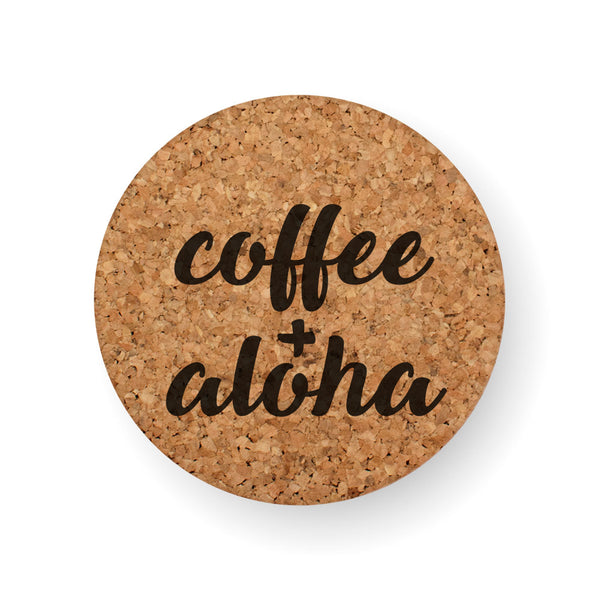 COFFEE AND ALOHA COASTER