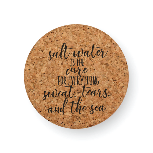 SALT WATER CURES COASTER