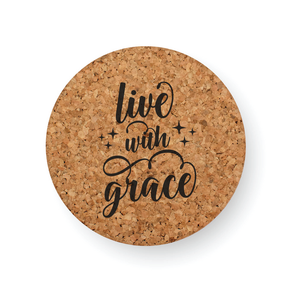 LIVE WITH GRACE COASTER