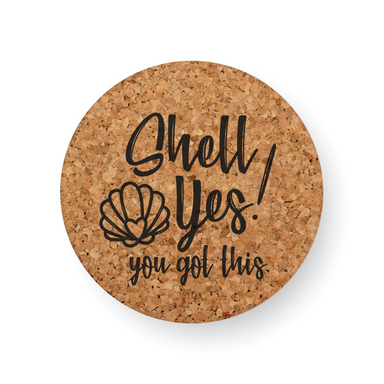 DISCONTINUED DESIGN : SHELL YES COASTER