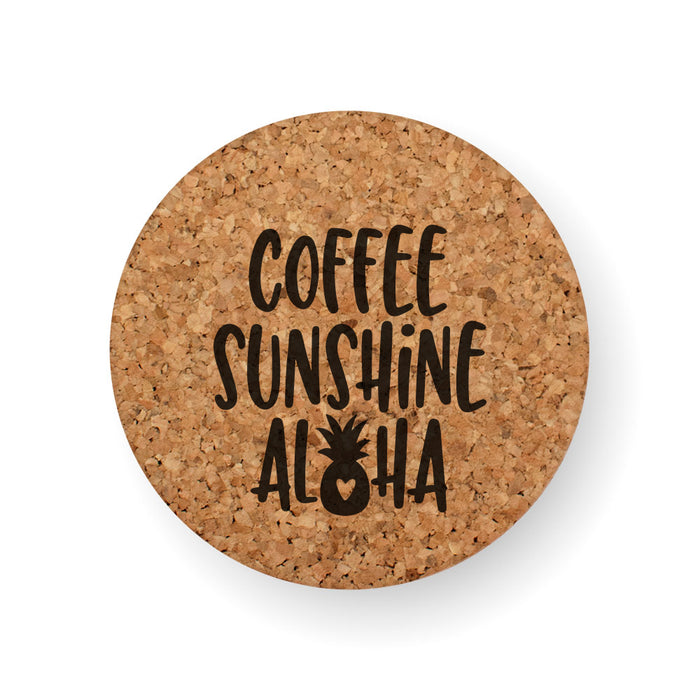 DISCONTINUED DESIGN : COFFEE SUNSHINE ALOHA COASTER