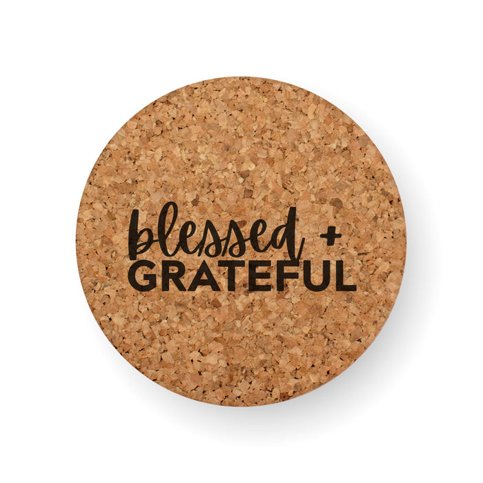 BLESSED + GRATEFUL COASTER