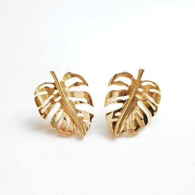 STATEMENT MONSTERA STUD EARRINGS