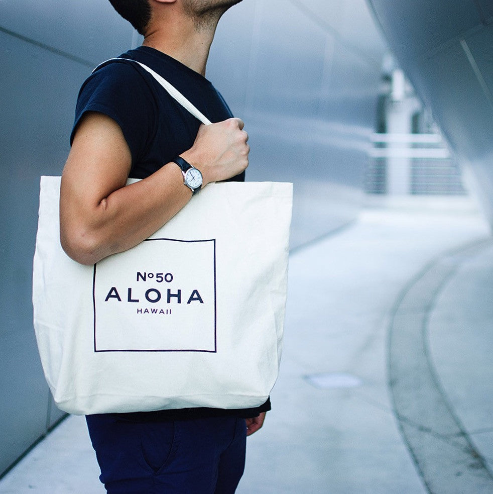 ALOHA NO. 50 - NATURAL TOTE