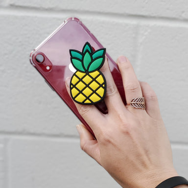 SILICONE PINEAPPLE PHONE GRIP STAND