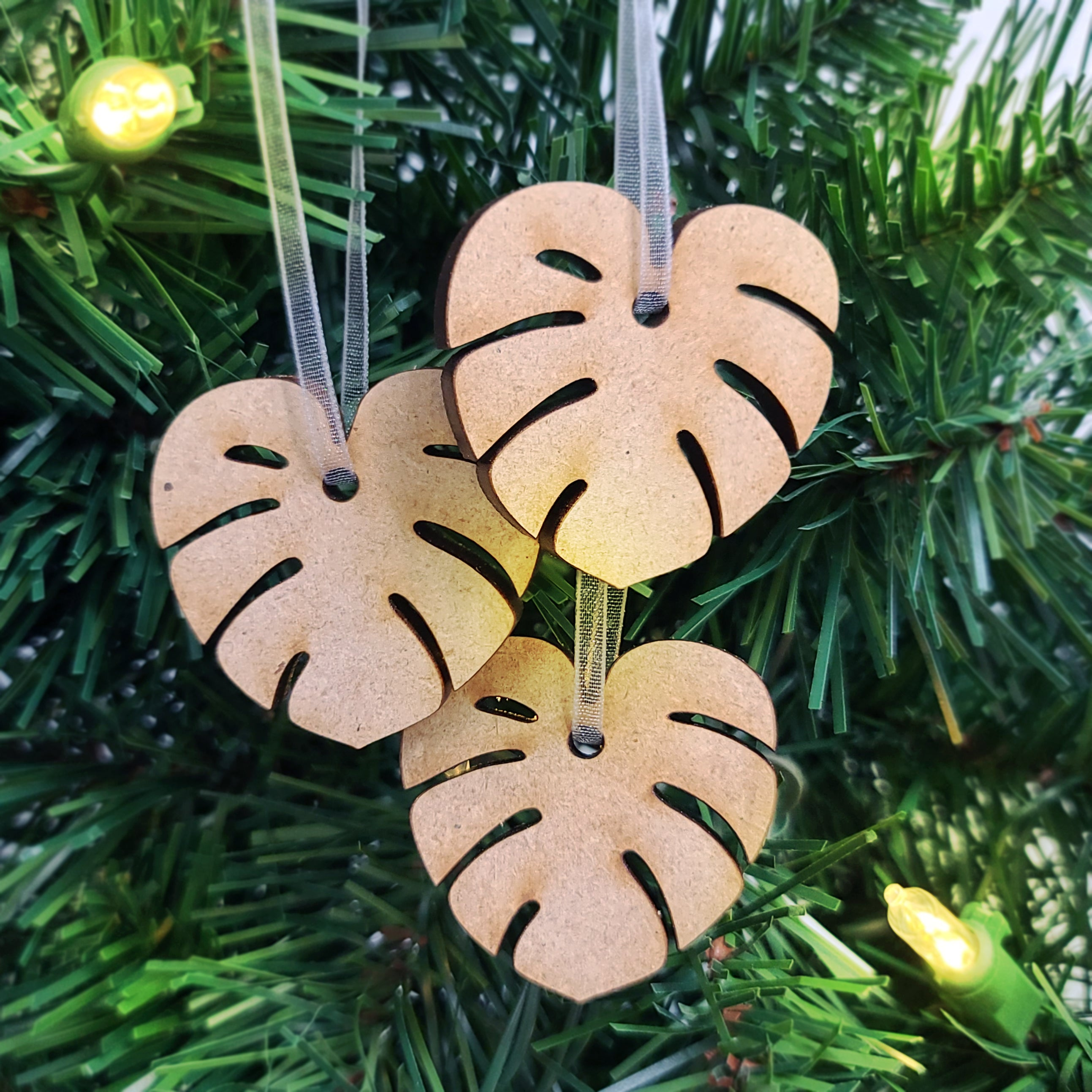 MINI MONSTERA ORNAMENT SET