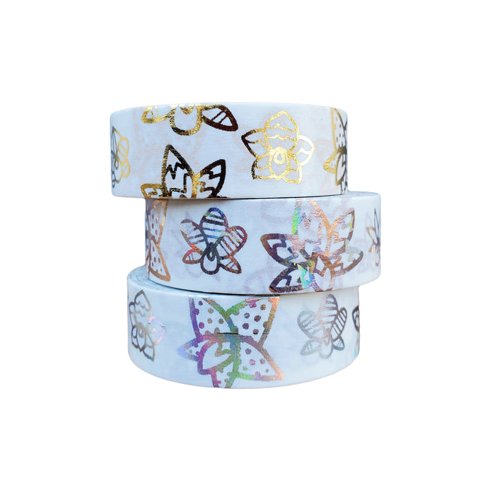 WASHI TAPE STACK 3-ROLL ORCHID