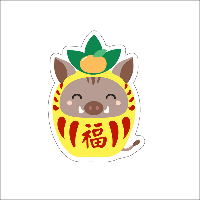YEAR OF THE BOAR - PINEAPPLE DARUMA