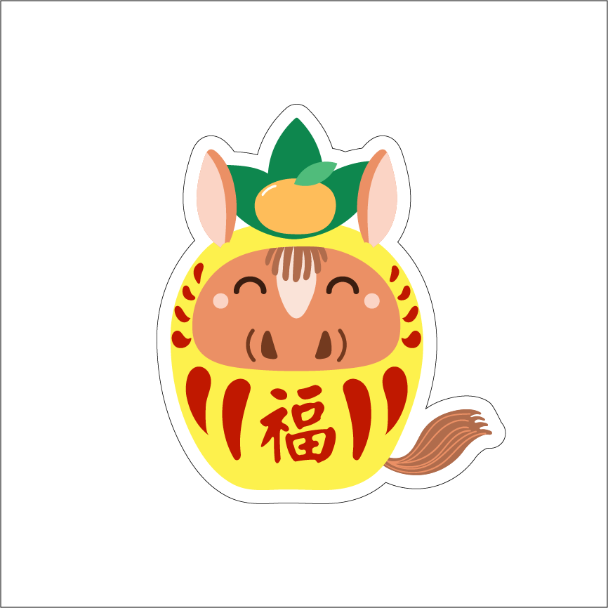 YEAR OF THE HORSE - PINEAPPLE DARUMA