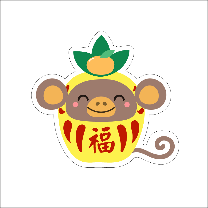 YEAR OF THE MONKEY - PINEAPPLE DARUMA