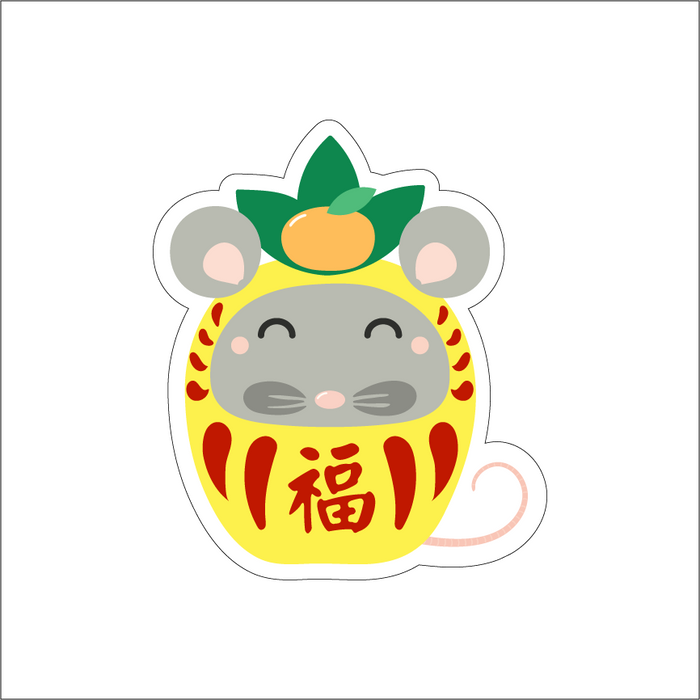 YEAR OF THE RAT - PINEAPPLE DARUMA