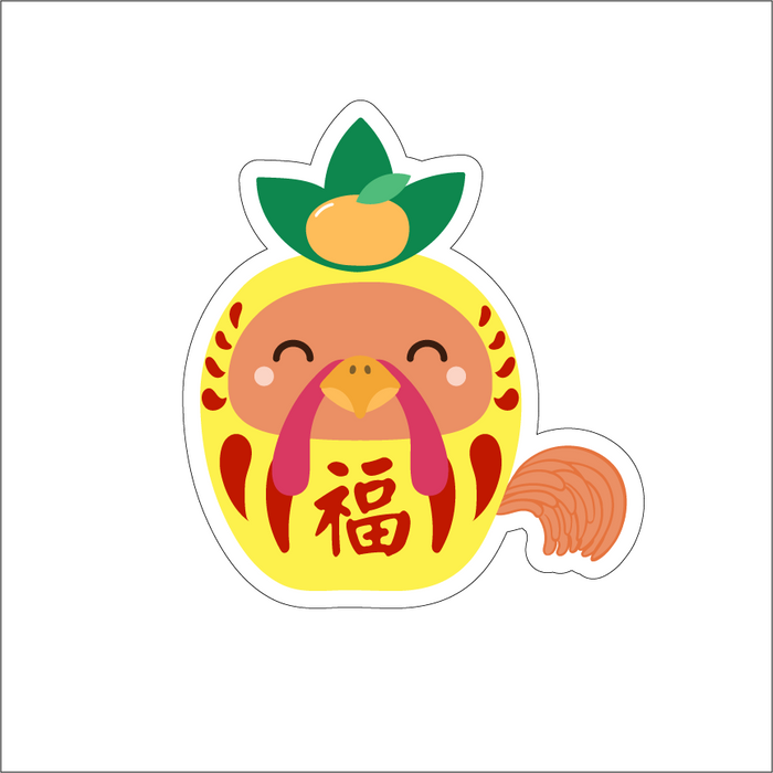 YEAR OF THE ROOSTER - PINEAPPLE DARUMA