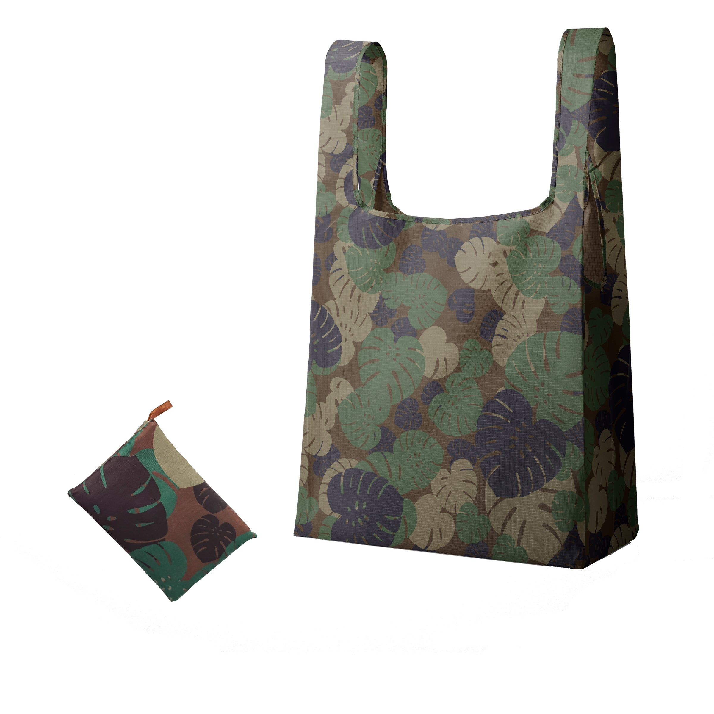 MONSTERA CAMO REUSABLE BAG