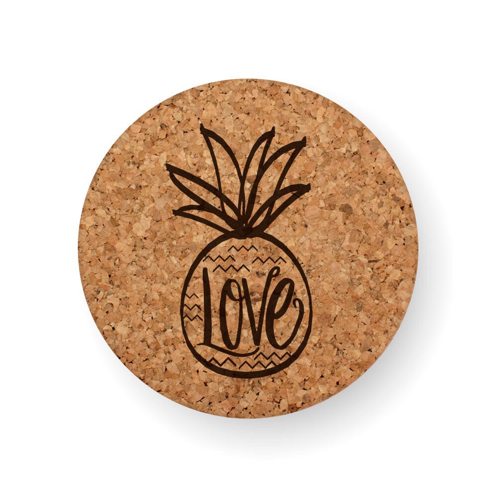 LOVE PINEAPPLE COASTER