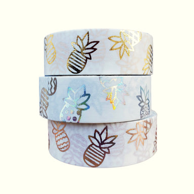 3-ROLL PINEAPPLE WASHI TAPE STACK