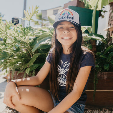 GIRLS' ALOHA PINEAPPLE TEE