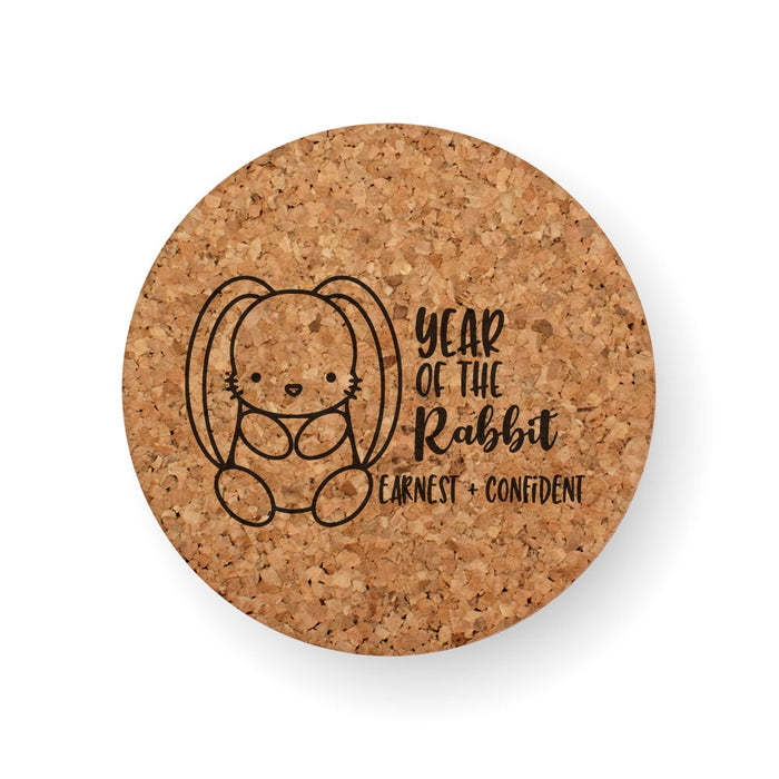 CHINESE ZODIAC YEAR OF THE RABBIT COASTER