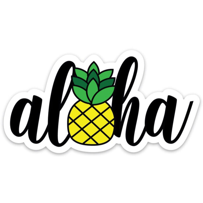 PINEAPPLE ALOHA ICON DECAL