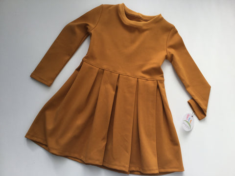 Long Sleeve Winter Dress - Mustard