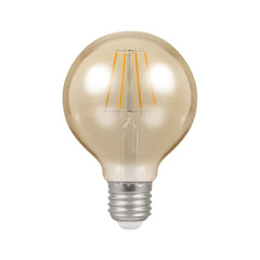 Cromptons Lamps LED Globe G80 Filament Antique 5W Dimmable 2200K ES-E27