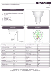 SYMSIS Graphene GU10 6W LED Light Bulb (Dimmable) 4000k
