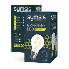 SYMSIS Graphene GLS B22 7.5W LED Bulb (Dimmable) 2700k Box