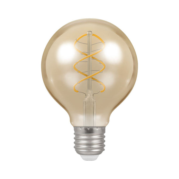 Crompton LED G80 Spiral Filament Antique 6W Dimmable 2200K ES-E27