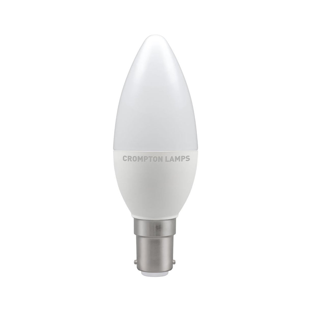 Crompton LED Candle Thermal Plastic 5.5W 2700K SBC-B15d